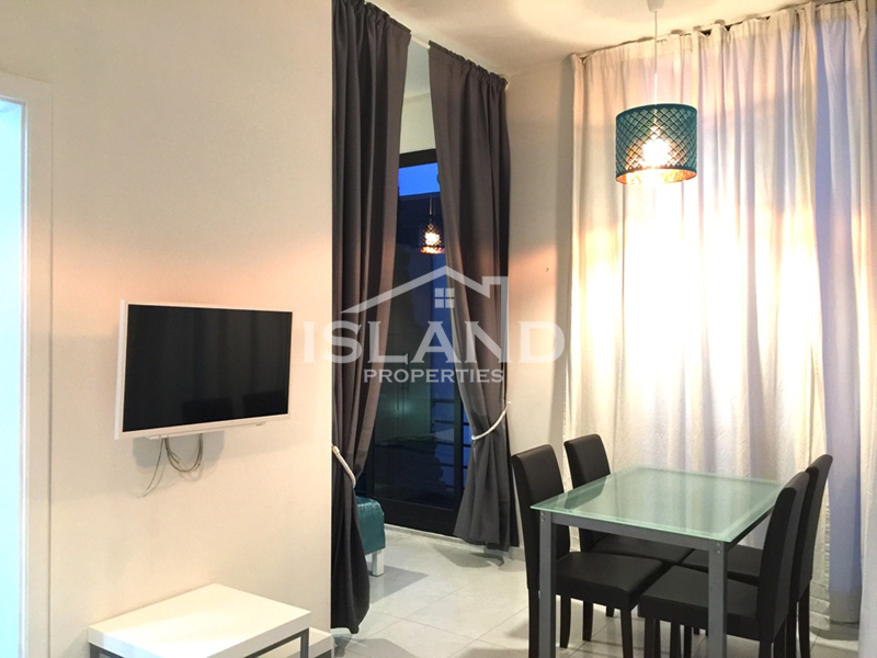 Island Properties apartment living room in Msida